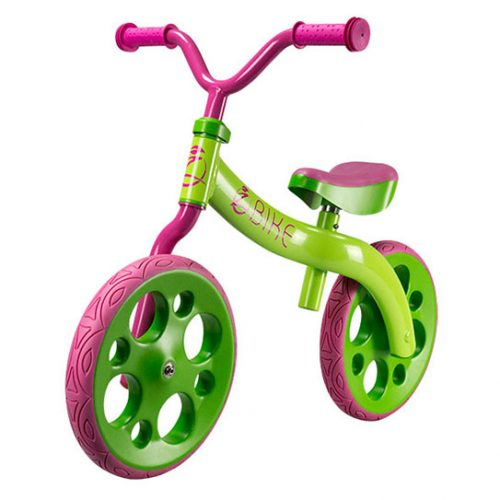 פנטסטי אופני איזון לילדים זי בייק - Z bike ירוק-ורוד - סקוט JU-04